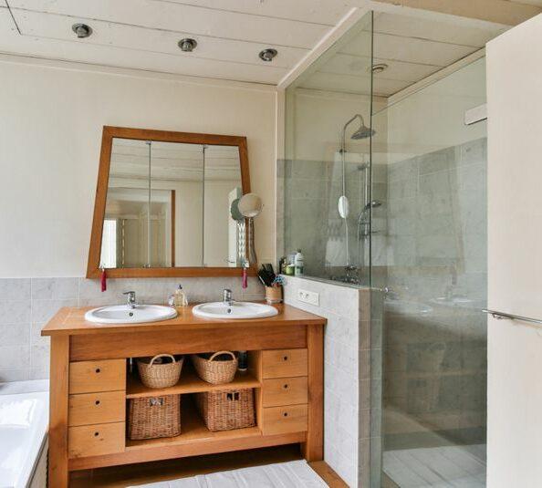Dusche im Landhaus Stil