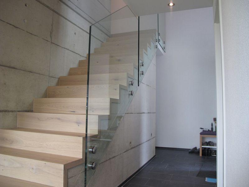 Treppengeländer aus Glas